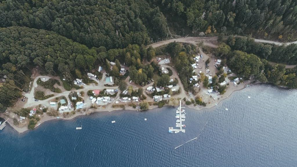 Aerial of Sproat Lake Campground