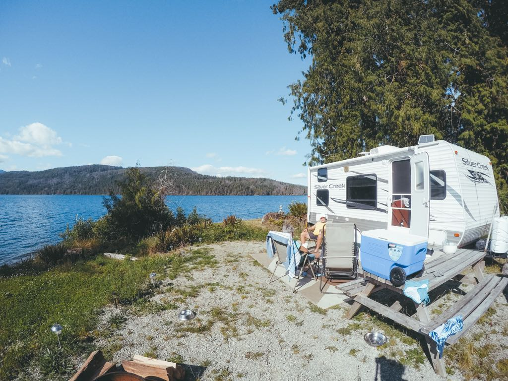 RV Camping at Sproat Lake Campground in BC